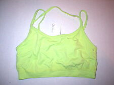 New Womens NWT Fabletics Top XS Lime Green Bra Yoga Pilates Sports Dance Sevan