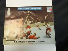 1972 New York Rangers vs Montreal Canadiens Magizine Stanley Cup Playoffs