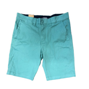 Mens Chino Shorts Casual Flat Front Stretch Combat Half Pant for Summer