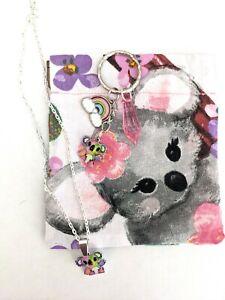 Necklace koala Bear gift set koala necklace koala keychain koala Bear purse