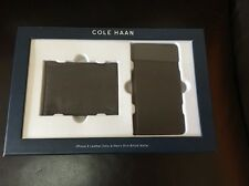 Cole Haan CHRM71040 Leather Folio Case / Men's Bifold Wallet iPhone 6 Black NEW