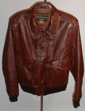 Vintage 1970s Grais Leather Bomber Aviator Flyer Jacket! Quilted Lining/Brown 38