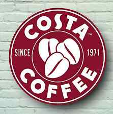 LARGE COSTA COFFEE SHOP HOUSE SIGN PICTURE BAR PUB CAFE TEA SERVED HERE LOGO