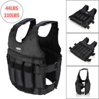 44/110LBS Adjustable Weighted Vest Strength Training Fitness Sports Exercise USA