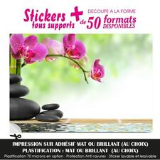 STICKER GALET BAMBOU ORCHIDEE EAU STICKERS  AUTOCOLLANT DECO DECORATION ZN-24