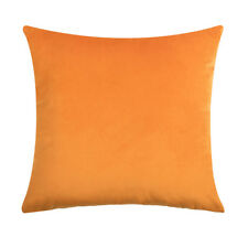 Velvet CUSHION COVERS Throw Pillow Case Solid Home Decor Zip Up Modern Soft Chic