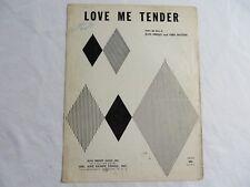 Love Me Tender Words by Elvis Presley  Vera Matson Piano Sheet Music 1956 #7956