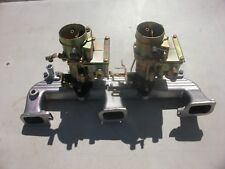 RECONDITIONED GENUINE X2 TWIN STROMBERG MANIFOLD TO HR HOLDEN TWIN CARBURETTORS