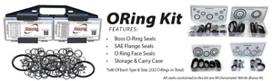 DiscountHydraulicHose O-RING Assortment Kit - ORFS, ORB, FLANGE SEALS