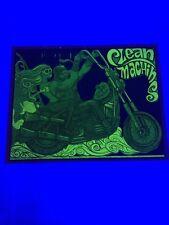 Vintage Clean Machine Black Light Poster Motorcycle 1970's Original 18x22