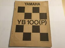 YAMAHA YB100 & YB100 (P) FACTORY SERVICE & REPAIR MANUAL