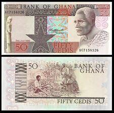 GHANA 50 CEDIS 1980 P 22 CHOICE UNC