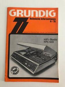 Grundig Technische Informationen Heft 4 von 1976 Zeitschrift für Elektronik...