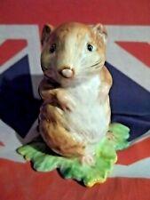 New ListingTimmy Willie On Leaf Bp2A Gold Oval Beatrix Beatrice Potter Figurines Beswick