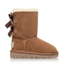 BNIB UGG AUSTRALIA CLASSIC WOMEN'S BROWN BAILEY BOW II BOOTS UK 5/38 RRP £185