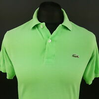Lacoste Mens Polo Shirt 3 (XS) Short Sleeve Green Regular Fit No Pattern Cotton