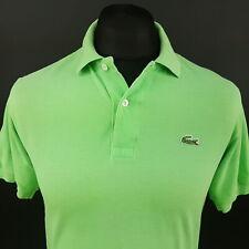 Camisa Polo Lacoste para Hombre 3 (XS) Manga Corta Verde Regular Fit no patrón de algodón