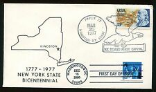 #3451 Statue of Liberty Combo FDC on 1977 Kingston NH Kapex Cover UA FD4123
