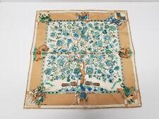 Vintage Hermes Fantaisies Indiennes Loic Dubigeon Silk Scarf 40cm