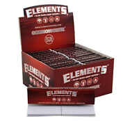 CONNOISSEUR Hemp Red Elements Papers + Tips King Size Slim Rolling Papers