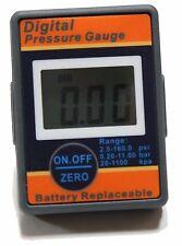 """6 PCS LEMATEC 1/8"""" Pneumatic Digital Air Pressure Gauge Replaceable Battery"""