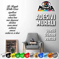 ADESIVI STICKERS MURALI WALL MURO PARETE DECORAZIONI ARREDO FAMIGLIA CASA AMORE