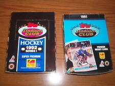 1 Box 1991 TOPPS STADIUM CLUB  HOCKEY Cards &1 Box of 1992 Topps Stadium Club I