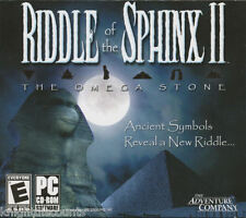 RIDDLE OF THE SPHINX II 2 Omega Stone PC Game NEW inBOX
