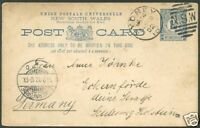 SOUTH NEW WALES TO GERMANY Postal Stationery 1902 VF