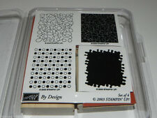 Stampin Up By Design Stamp Set of 4 Unmounted / 1 Label Cut from Sheet