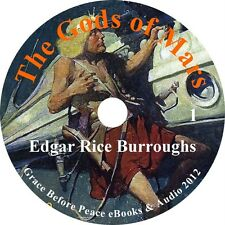 Gods of Mars, Sci-Fiction Edgar Rice Burroughs Audiobook in English on 1 MP3 CD