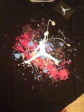 Air Jordan Splatter Graffiti Short Sleeve T Shirt Size Large Free Ship Usa💝💝💝