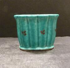 Swedish Gustavsberg Argenta Ribbed Vase With Silver Overlay Design - MINT