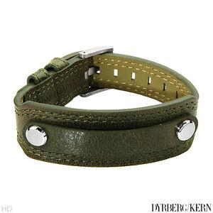 DYRBERG/KERN of DENMARK! Bracelet in StSl/Green Leather