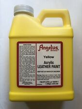 Angelus Yellow acrylic leather paint in 16oz/1 pint