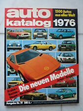 Auto Katalog 1976 Ausgabe Nr.19, 1500 Autos aus aller Welt