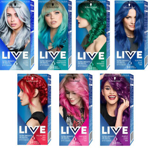 LIVE Colour Hair Dye by Schwarzkopf Ultra Brights or Pastel Semi Permanent 2in1