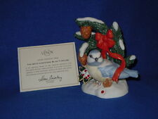 "THE LENOX 2010 ""BLUE TITMOUSE"" CHRISTMAS BIRD SCULPTURE - COA"