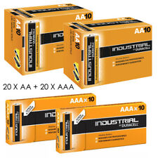 Duracell Industrial 20 x AA 20 x piles AAA Alcalines Procell MN1500 LR6 LR03
