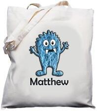 Personalizzata Monster Design-naturale (crema) Cotone Borsa a tracolla/Shopper Tote