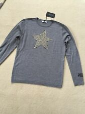 Bella Freud Grey Studded Star Jumper