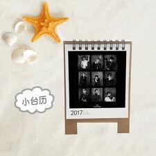 EXO LOTTO 2017 Mini Desk Calendar CHANYEOL LAY SEHUN Photo Album Pictures KPOP