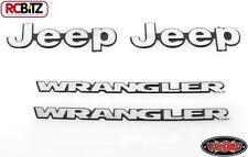 Logo en métal pour Tamiya CC01 Wrangler Axial Jeep Wrangler SCX10 badge emblème