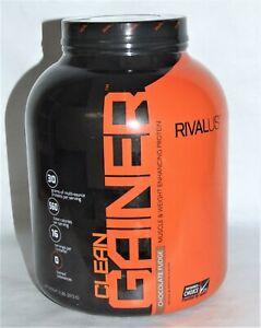RIVALUS Clean Gainer - Weight Gaining Protein Powder - Chocolate Fudge - 5 lbs