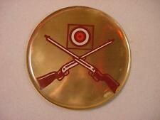 "CROSS RIFLES 2"" EPOXY CAR EMBLEM STICKER NEW"