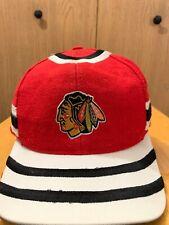 VINTAGE Chicago Blackhawks Starter Rare Snapback HAT NHL Hockey Wool Cap