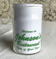 Vintage Johnson's Restaurant Drinking Glass