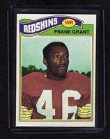 1977 Topps #289  Frank Grant Washington Redskins Football Card EX/MT