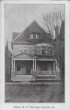 Asbury M E Parsonage Scranton PA Handsome Vintage Postcard postally used in 1912
