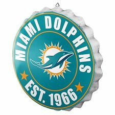 Miami Dolphins Bottle Cap Sign - Est 1966 - Room Bar Decor NEW 13.5""